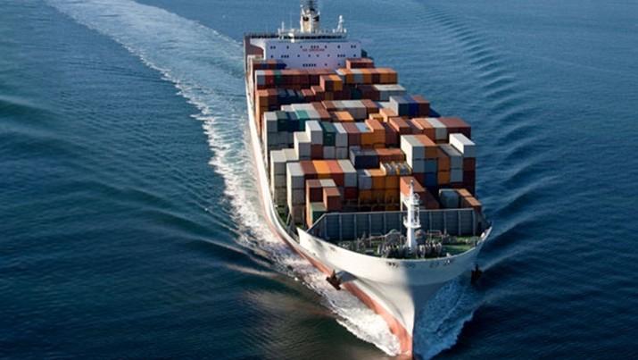 Marchandise transportée par voie maritime (illustration).