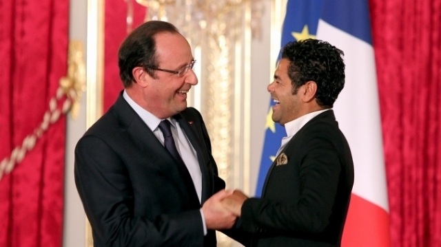 Debbouze et Hollande