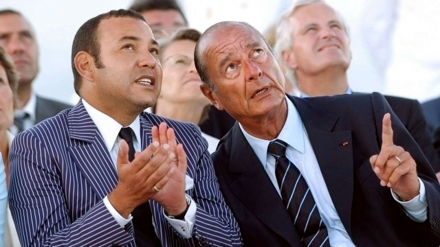 2000-Mohammed VI Jacques Chirac France
