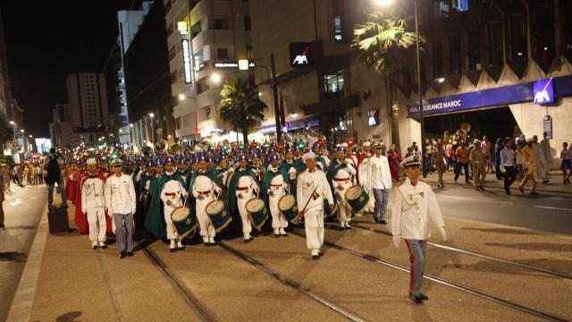 Parade Garde Royale le 29 juillet 2013 bd Zerktouni. av Hassan 2. place Mohammed V - 2