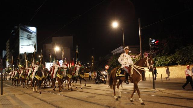 Parade Garde Royale le 29 juillet 2013 bd Zerktouni. av Hassan 2. place Mohammed V - 4