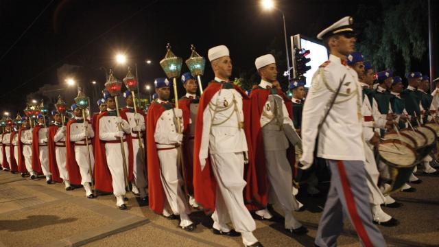 Parade Garde Royale le 29 juillet 2013 bd Zerktouni. av Hassan 2. place Mohammed V - 7