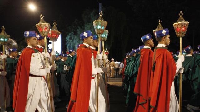 Parade Garde Royale le 29 juillet 2013 bd Zerktouni. av Hassan 2. place Mohammed V - 8
