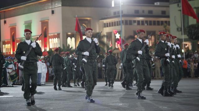 Parade Garde Royale le 29 juillet 2013 bd Zerktouni. av Hassan 2. place Mohammed V - 11