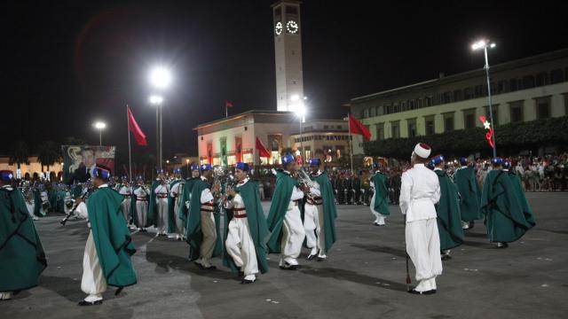 Parade Garde Royale le 29 juillet 2013 bd Zerktouni. av Hassan 2. place Mohammed V - 15