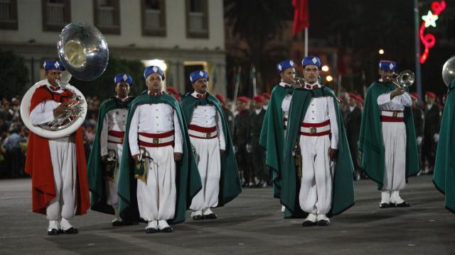 Parade Garde Royale le 29 juillet 2013 bd Zerktouni. av Hassan 2. place Mohammed V - 16