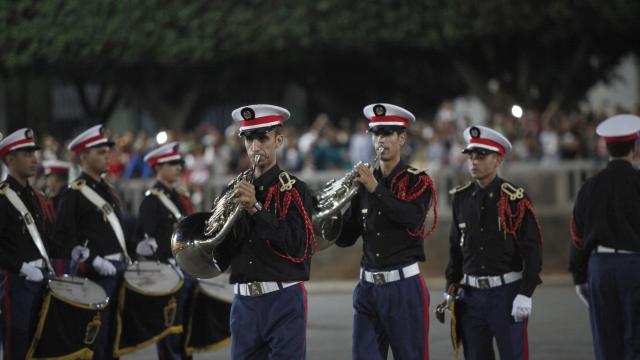 Parade Garde Royale le 29 juillet 2013 bd Zerktouni. av Hassan 2. place Mohammed V - 22