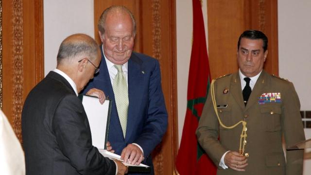 Juane Carlos recoit les clés de Rabat