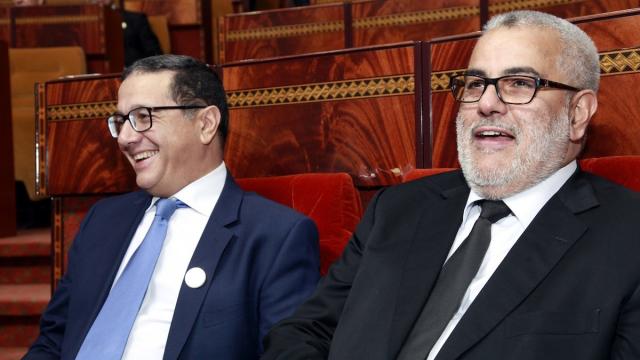 Mohamed Boussaïd et Abdelilah Benkirane à la chambre des représentants