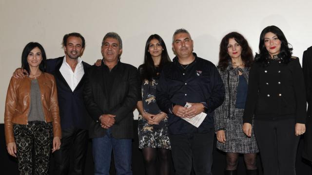 Mohamed Ahed Bensouda et l'équipe du film