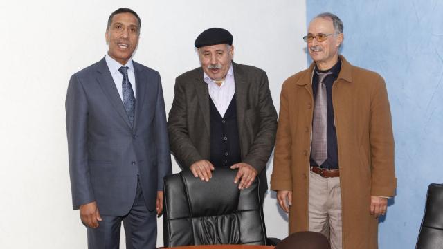 UMT, CDT et FDT se prépare conf de Presse  Casablanca 29 janvier 2014-7