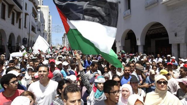 Marche soutien Gaza-Rabat