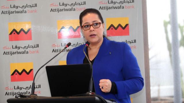 Meryem bensalah CGEM  Conf de Presse thématique de L'accompagnement des écosystèmes Casablanca 22 Dec 2014
