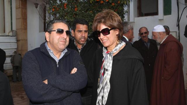 Rachid El Ouali Alami et Nezha bedouane Obseques Fatima Aouam Obseques Fatima Aouam