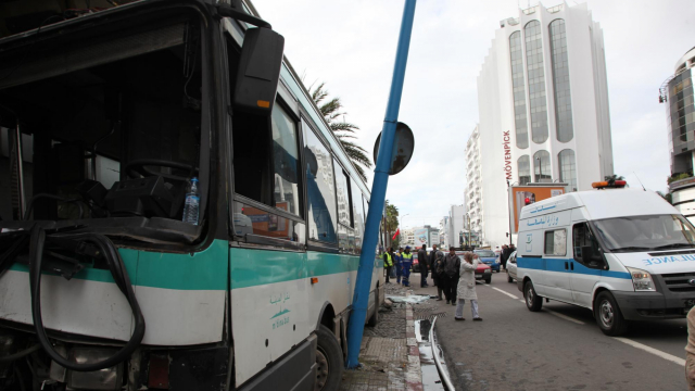 Accident Bus Casablanca