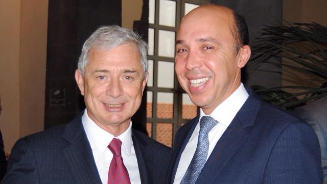 Chafik Rachadi et Claude Bartolone