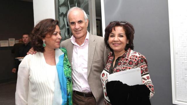 Aicha Amor,Atelier 21 et Mr & Mme Ali Ababou,Président de la fondation Zakoura.