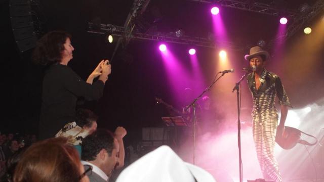 Amal Ayouch,Actrice et Keziah Jones.