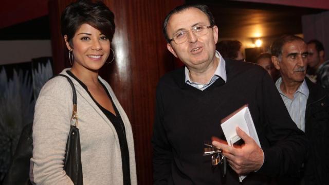 Leila Hadioui,mannequin professionel,actrice et animatrice. et Mahmoud Lemseffer.