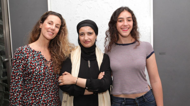 Meryem Sebti.Safaa Erruas,artiste peintre et Malak Yacoubi.