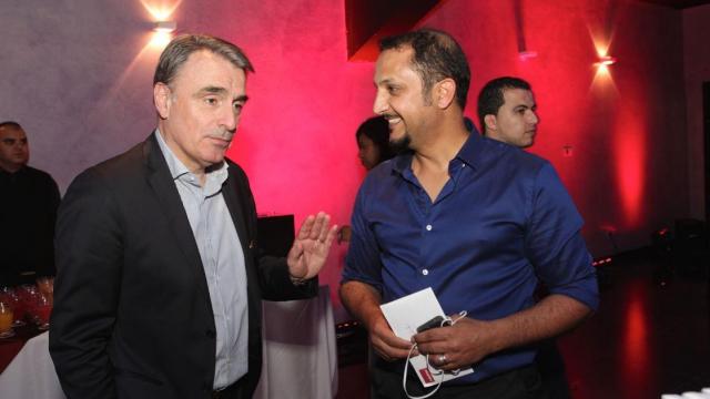 Michel Paulin,DG Meditel et Mohamed Marouazi,comédien,producteur,réalisateur et monteur de film.