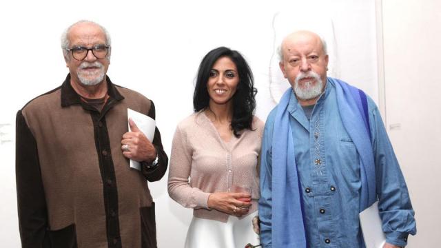 Rahoul,artiste peintre et directeur ecole  beau art.Majida Khattari,artiste photographe. Cherkaoui,artiste peintre.