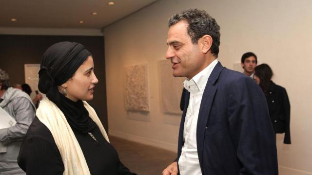 Safaa Erruas,artiste peintre et Rachid Andaloussi,architecte.