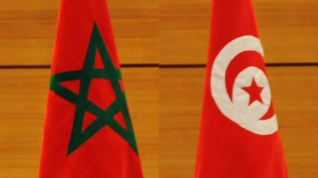 drapeaux maroc-tunisie