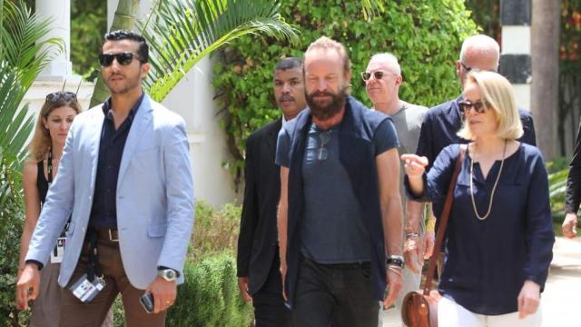 Sting,Royaume Un. Photo Call.Rabat 4 Juin 2015.