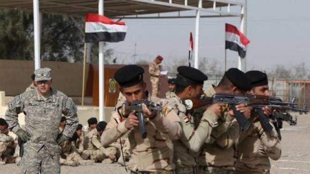 soldats irakiens entraienemnt