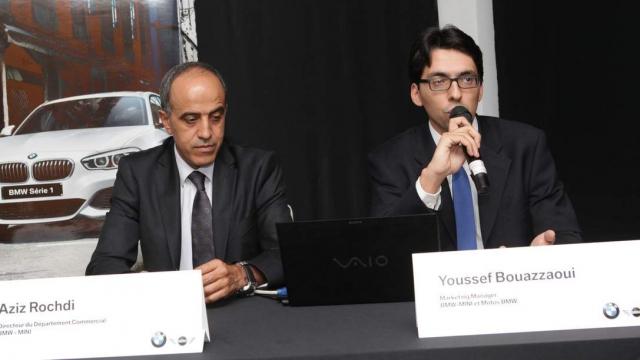 Aziz Rochdi,Directeur du Département Commercial BMW-MINI et Youssef Bouazzaoui,Marketing Manager BMW-MINI et Motos BMW.