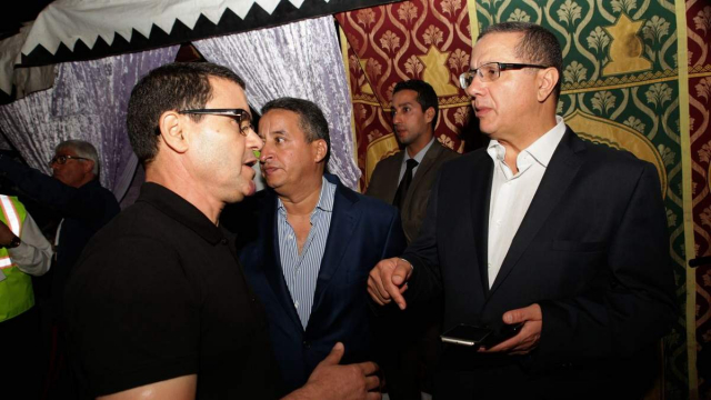 Brahim El Mazned,directeur artistique du festival timitar et  Mohamed Boussaïd ministre de l'Economie et des Finances.
