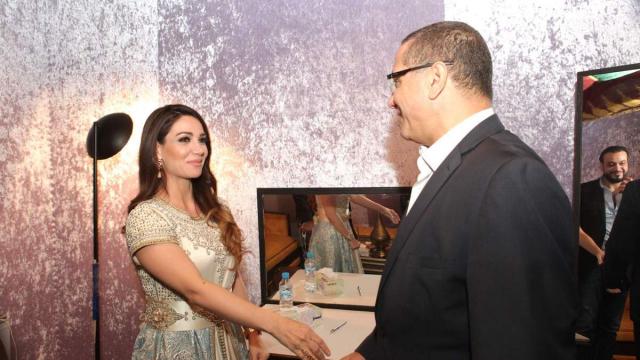 Diana Haddad & Mohamed Boussaïd ministre de l'Economie et des Finances.