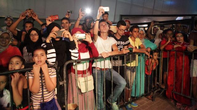 fête du trône feu d'artifice morocco mall casablanca 30 juillet 2015