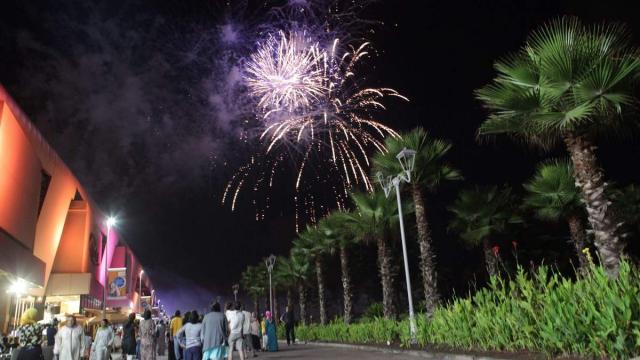 fête du trône feu d'artifice morocco mall casablanca 30 juillet 2015.