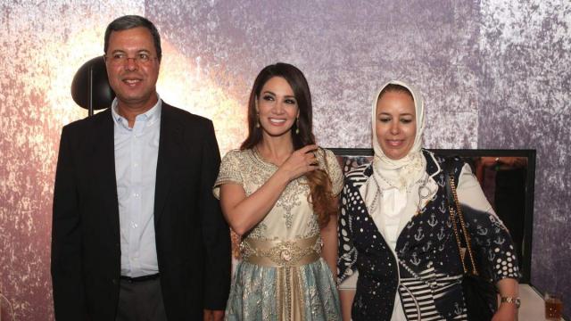 Mr et Mme Abdellatif Zaghnoun,DG CDG et Diana Haddad.