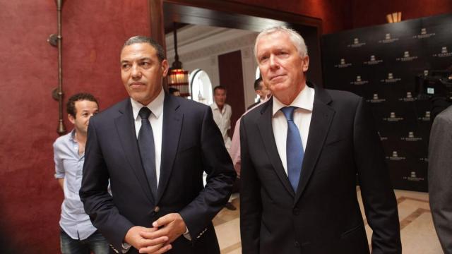 Abdeslem Bekrate Wali de Marrakech et Pierre Jochem DG de la Mamounia