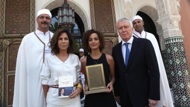 Christine Orban,jury.Leila slimani,auteur. Pierre Jochem DG de la Mamounia