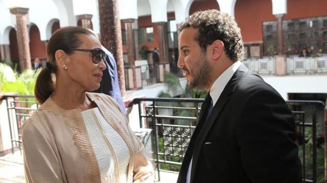 Habiba Alaoui, présidente de l'association Lalla Hasna et Omar Alaoui,Pam