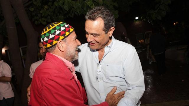 Jauk Elmaleh et Rachid Andaloussi,président de l'association Casamémoire