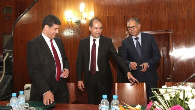 Mustapha Bakkoury.le wali du grand Casablanca Khalid Safir et le wali de la région