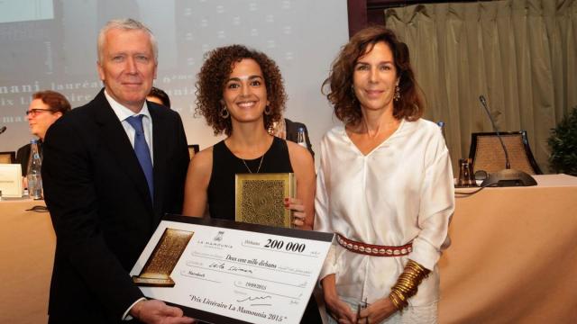 Pierre Jochem DG de la Mamounia .Leila slimani,auteur. Christine Orban,jury