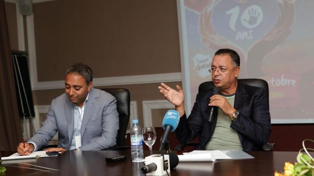 Yannis Chebbi,producteur du concert la tolérance Agadir et le ministre du tourisme  Lahcen Haddad