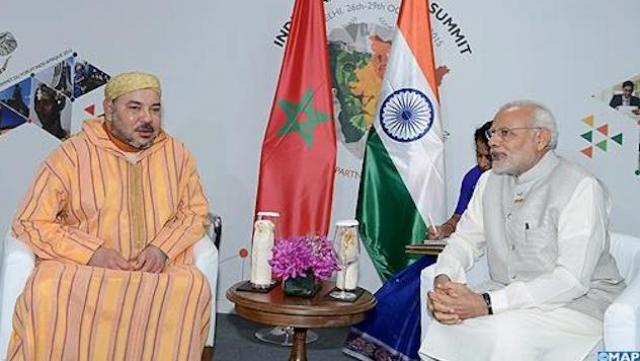 roi mohammed VI en Inde
