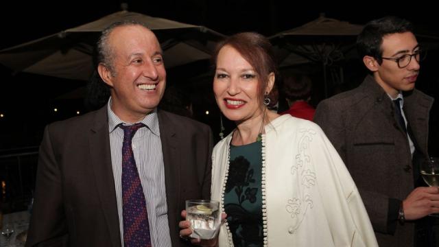 Abel Damoussi et son epouse Kenza Melehi,designer