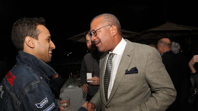 Barry et Dwight Bush, l'ambassadeur des Etats-Unis au Maroc.
