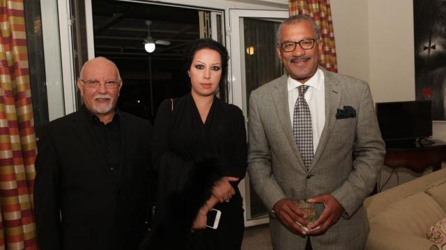 mr et Mme melehi et Dwight Bush, l'ambassadeur des Etats-Unis au Maroc.