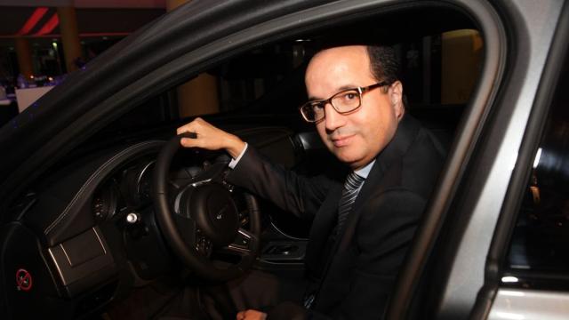 Rachid Fedouach, directeur général adjoint de la SMEIA au volant de JAGUAR