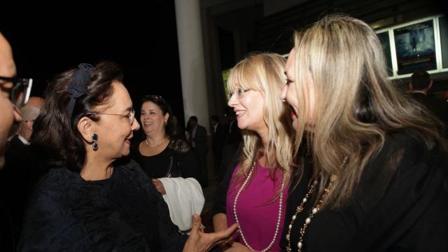 Saïda Karim Lamrani, vice-présidente déléguée du groupe des sociétés Holdings Safari-Sofipar-Cofimar et la consule du royaume-uni a casablanca