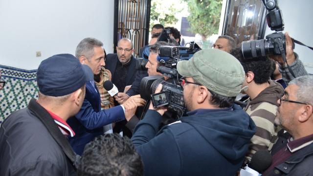 Moulay Hafid Alami avec les journalistes